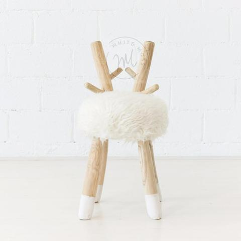 Bambino Stool - White Moss Collection