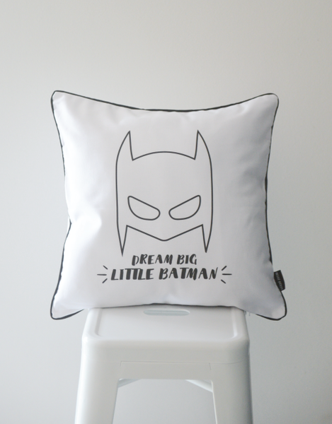 Scandi Scatter Cushion - Dream Big Batman