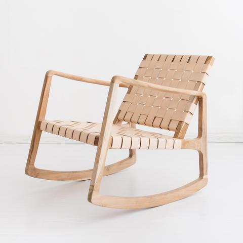 Beau Rocking Chair - Blush - White Moss Collection
