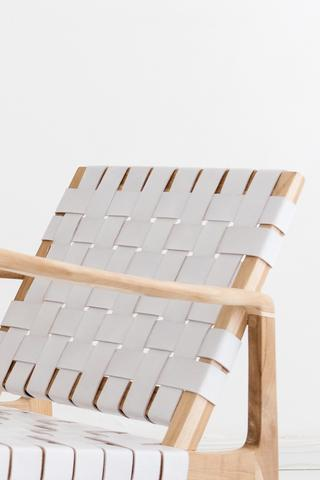 Beau Rocking Chair - White - White Moss Collection