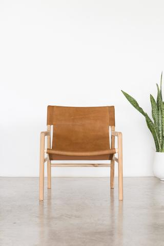 Bella Arm Chair - Tan - White Moss Collection