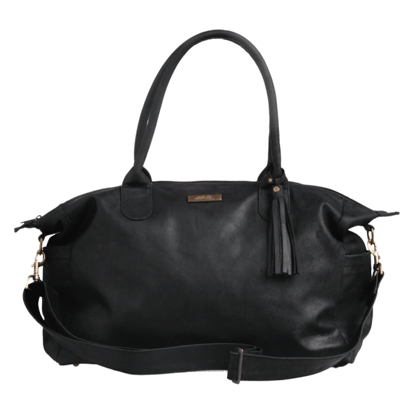 Classic Leather Baby Bag - Black