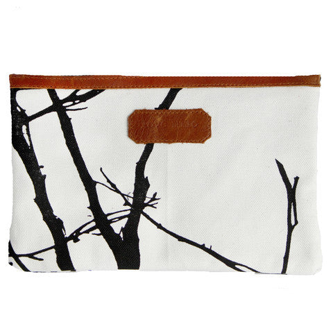On The Go Purse - Branches/Leather