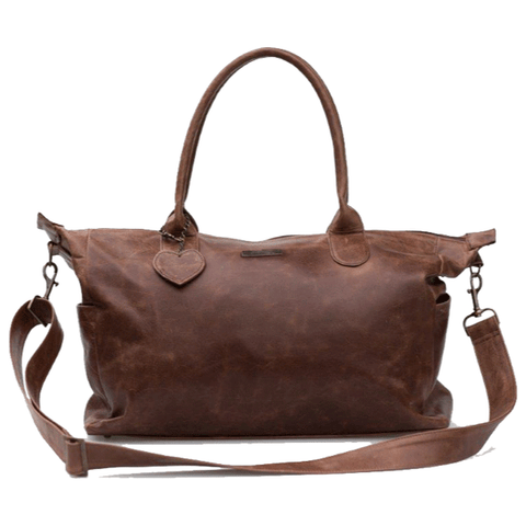 Classic Leather Baby Bag - Brown