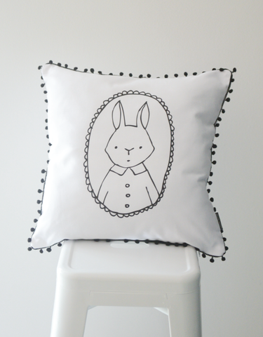 Scandi Scatter Cushion - Bunny Love