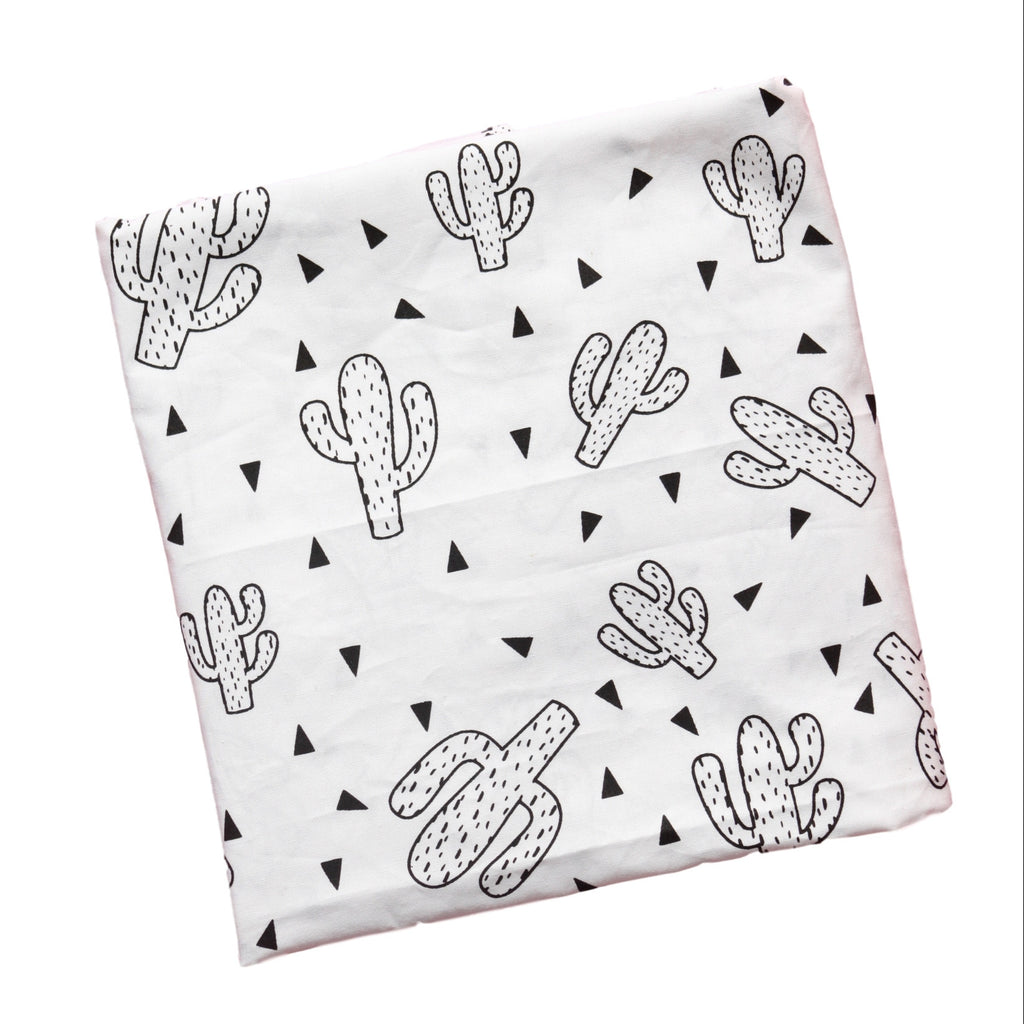 Crib Fitted Sheet -  Cactus