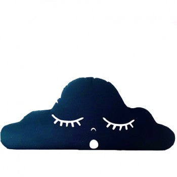 Sleepy Cloud Pillow - Black