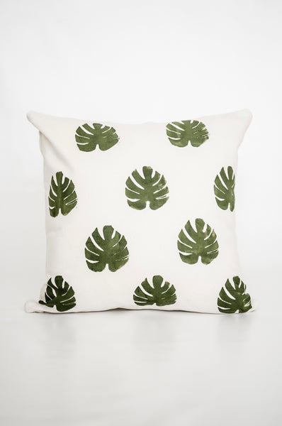 Multi-leaf Monstera Cushion Cover