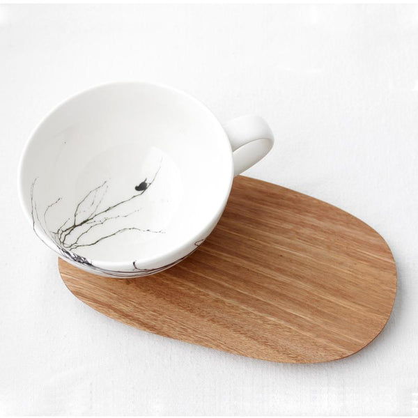 Cup & Wooden Saucer - Branch