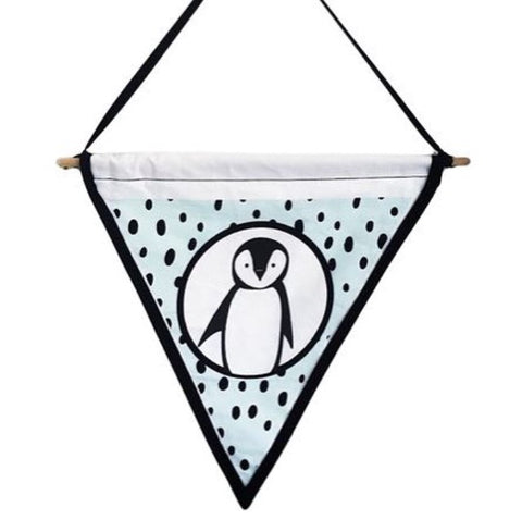 Penguin Wall Flag