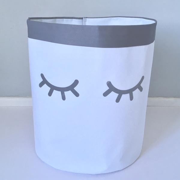 Fabric Storage Bag - Sleepy Lashes Grey