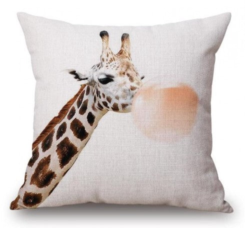 Scatter Cushion - Bubblegum Giraffe