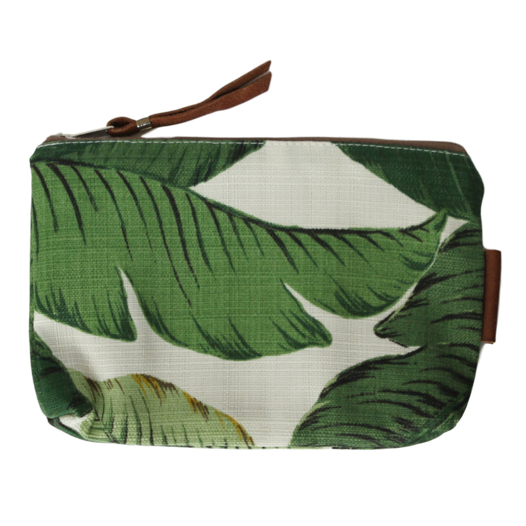 Accessory Bag with Leather - Greenery