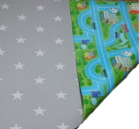 Bumpa Mats - Grey Star & Blue Car Track
