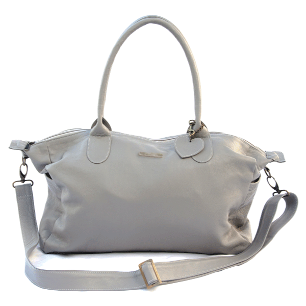 Classic Leather Baby Bag - Grey