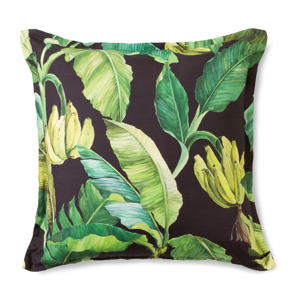Scatter Cushion -  Wild Banana (Black)