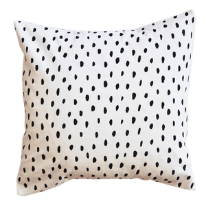 Monochrome Scatter Cushion - Messy Dot