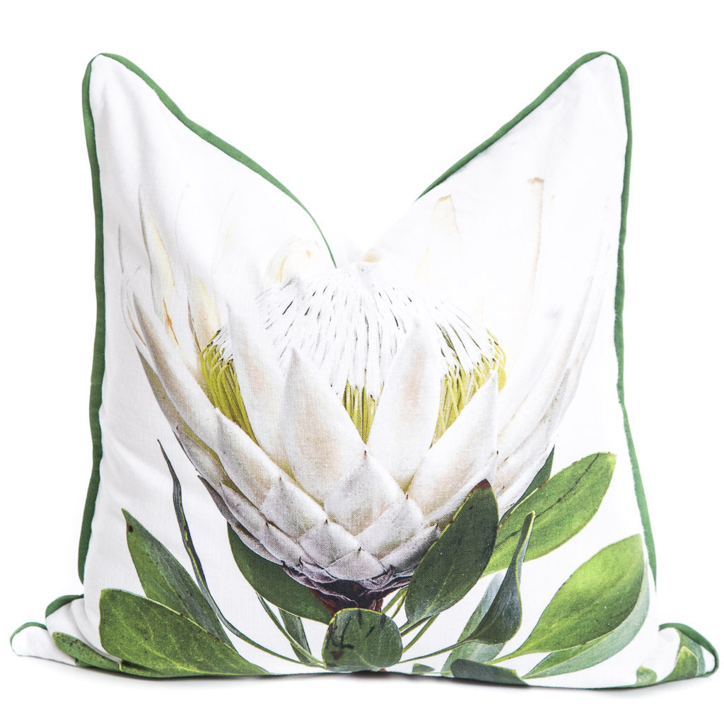 White Protea Cushion Cover