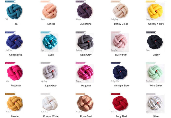 Knot Cushions - 20 colours