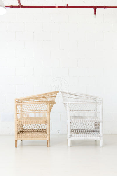 Malawi Chair Natural - White Moss Collection