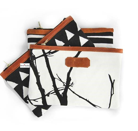 On The Go Purse - Tribal/Leather