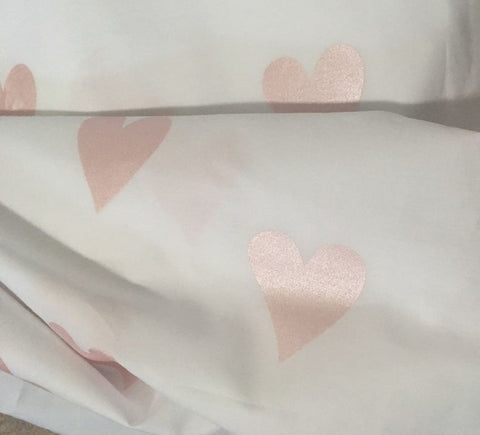 Baby/Toddler Duvet Set - Rose Gold Hearts