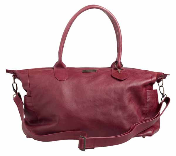 Classic Leather Baby Bag - Ruby Red