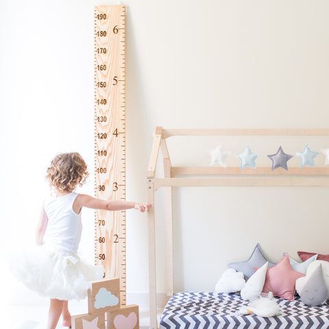 Growth Chart Ruler - Natural Wood