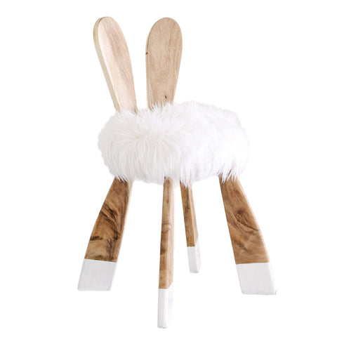 Alice of Wonder Stool - White Moss Collection