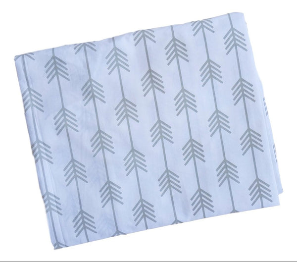 Single & Twin Fitted Sheet - Grey Arrows