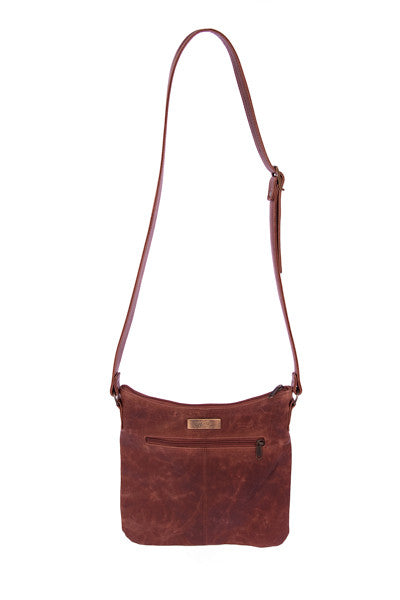Leather Sling Bag - Brown