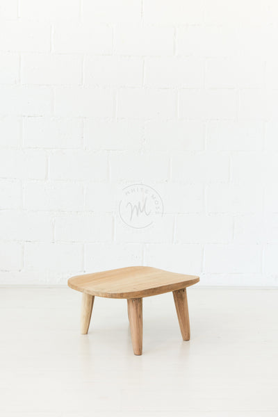 Stumpy Stool - White Moss Collection