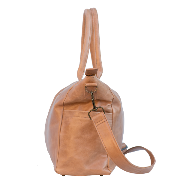 Classic Leather Baby Bag - Tan