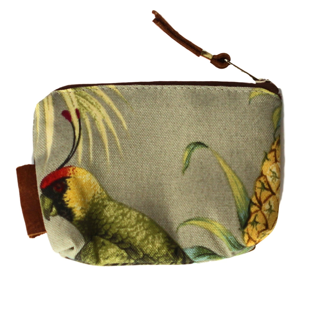 Coin Bag with Leather - Tropical