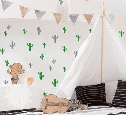 Cactus Wall Stickers - 3 colours