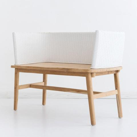 Ricki Bench White - White Moss Collection