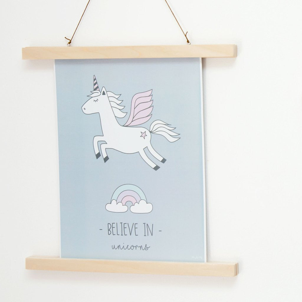 Believe in Unicorns Poster