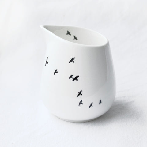 Porcelain Milk Jug - Birds