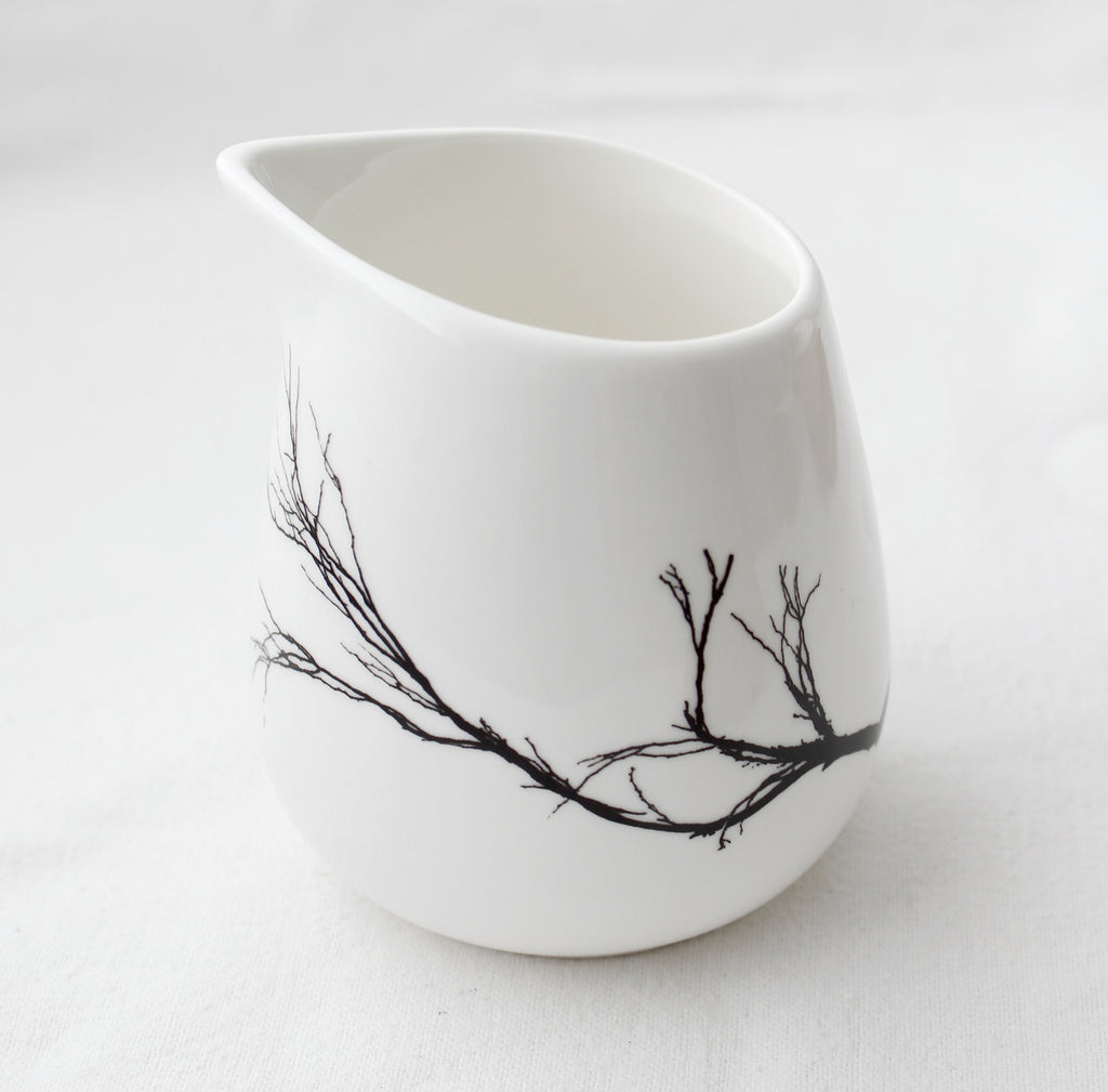 Porcelain Milk Jug - Branch