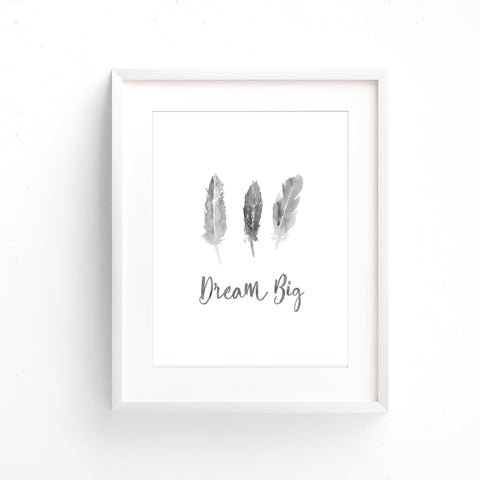 Watercolour Wall Art - Dream Big