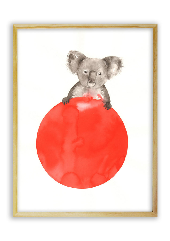 Koala on a Red Ball