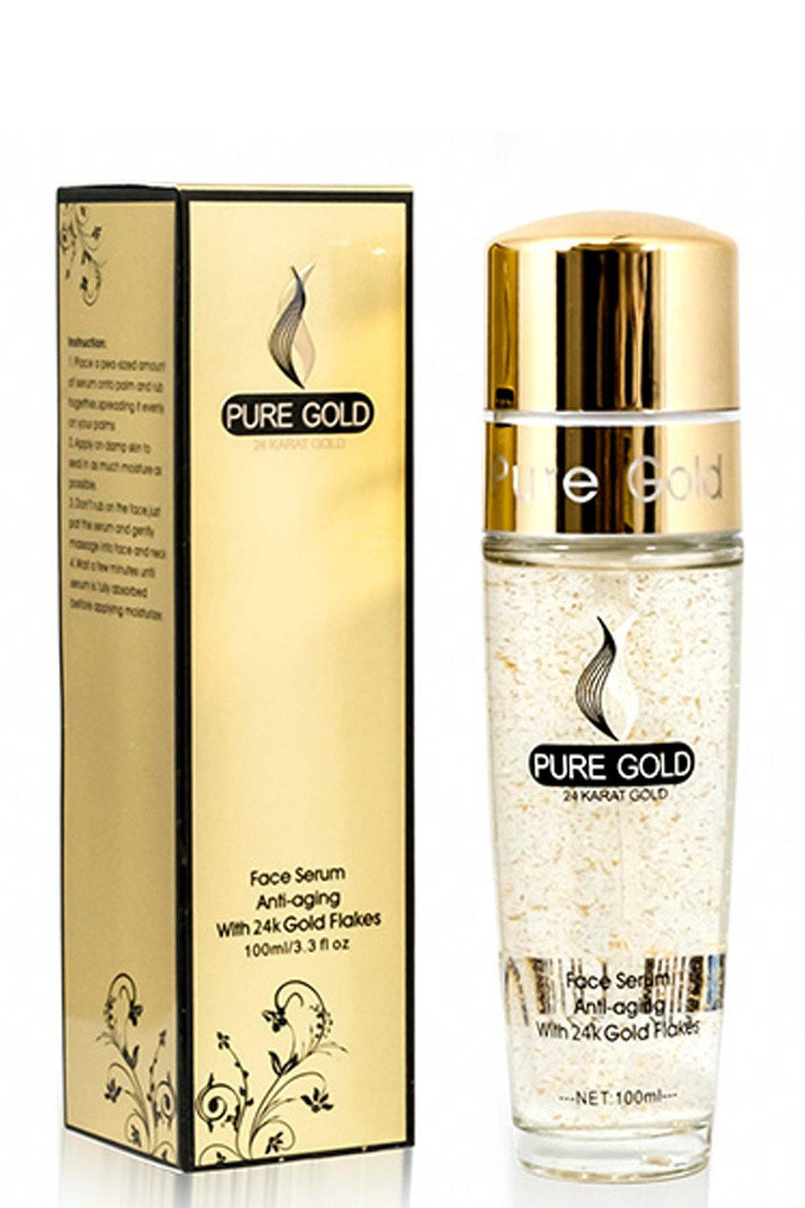 Anti-Aging 24k Gold Flake Face Serum - Blend Mineral Cosmetics