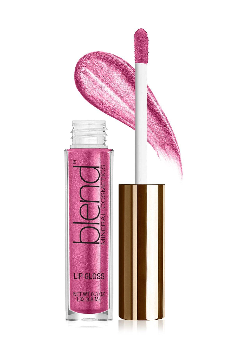 Lip Gloss #7 - Pink Pop - Blend Mineral Cosmetics