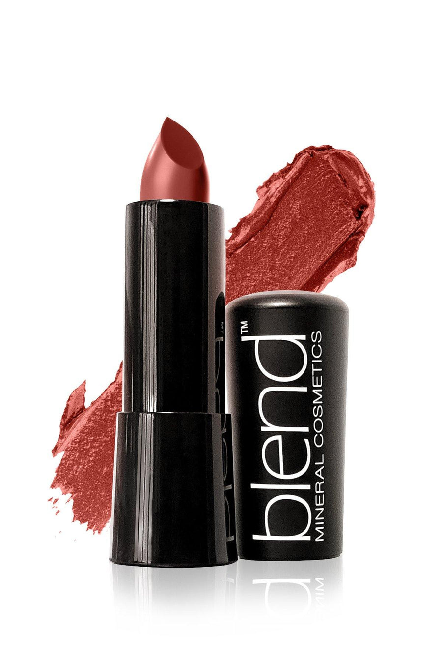 Lipstick #10 - Deep Brown Red - Blend Mineral Cosmetics