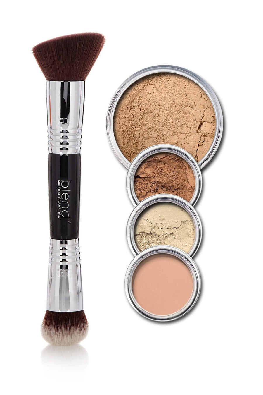 All-Over Face Contour & Highlighting Kit - Medium Dark - Blend Mineral Cosmetics