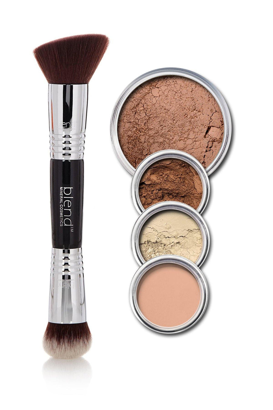 All-Over Face Contour & Highlighting Kit - Dark - Blend Mineral Cosmetics