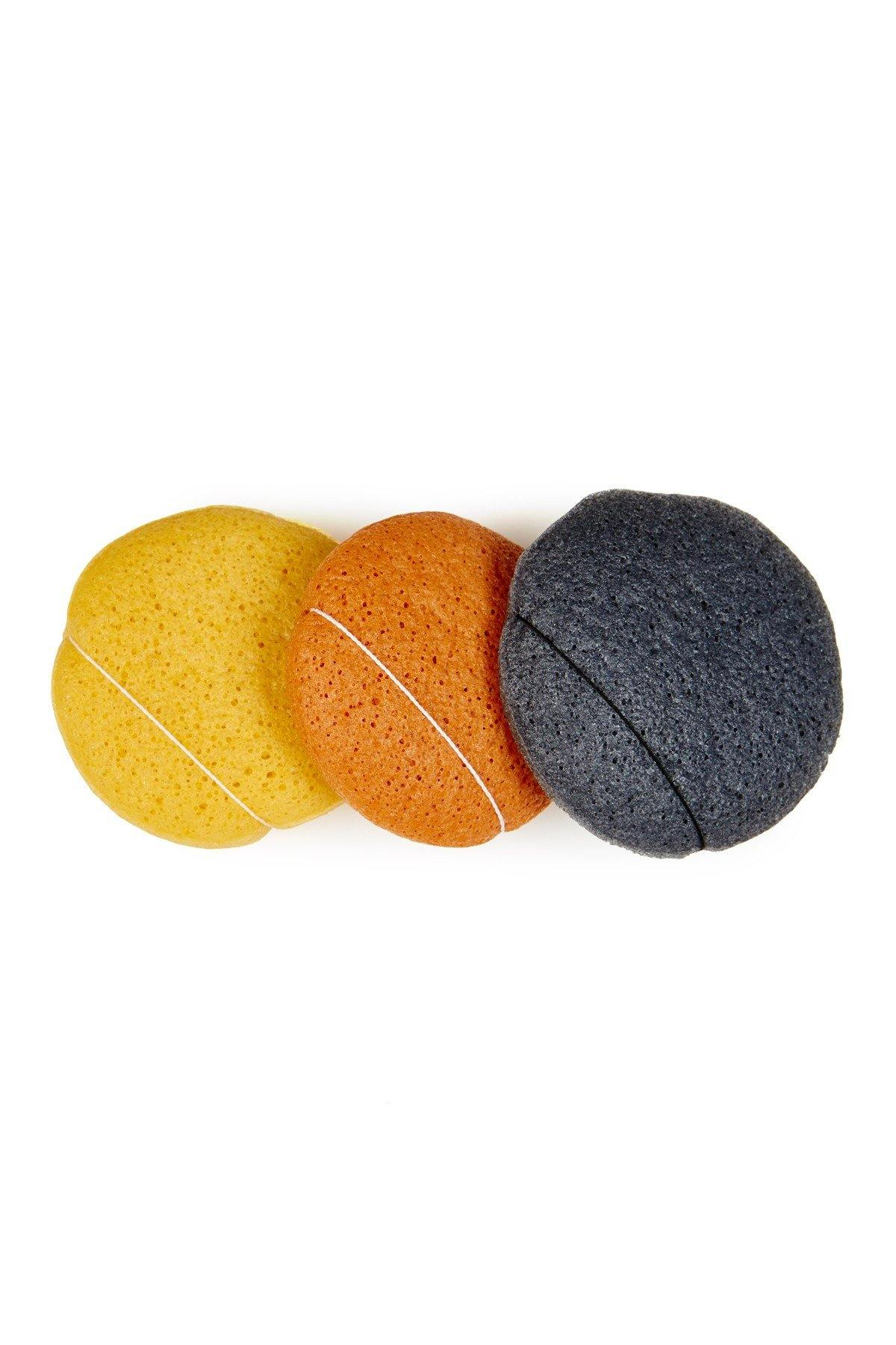 Konjac Beauty Sponge - 3-Piece Set