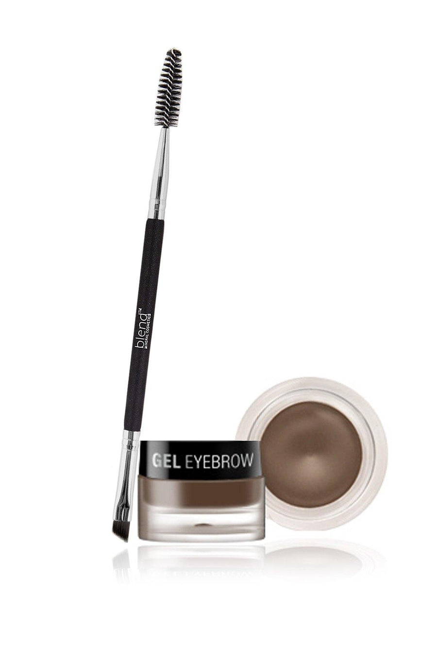 Gel Eyeliner & Brush (black, brown) - Blend Mineral Cosmetics