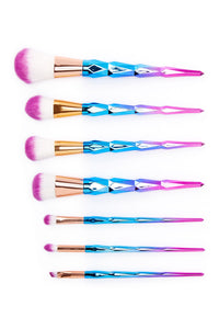 Unicorn Makeup Brush 7-Piece Set - Pink Diamond