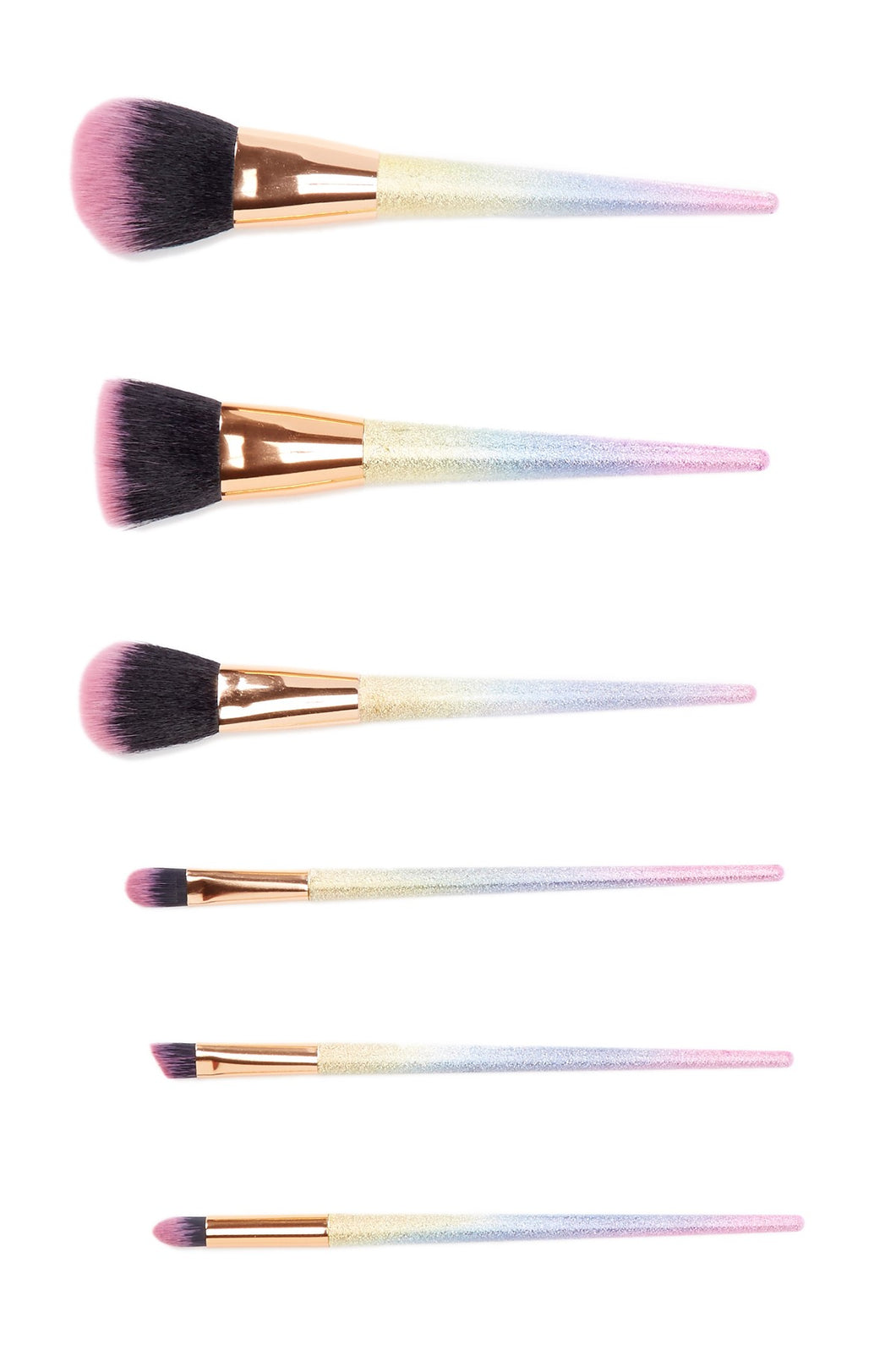 Unicorn Makeup 6-Piece Brush Set - Rainbow